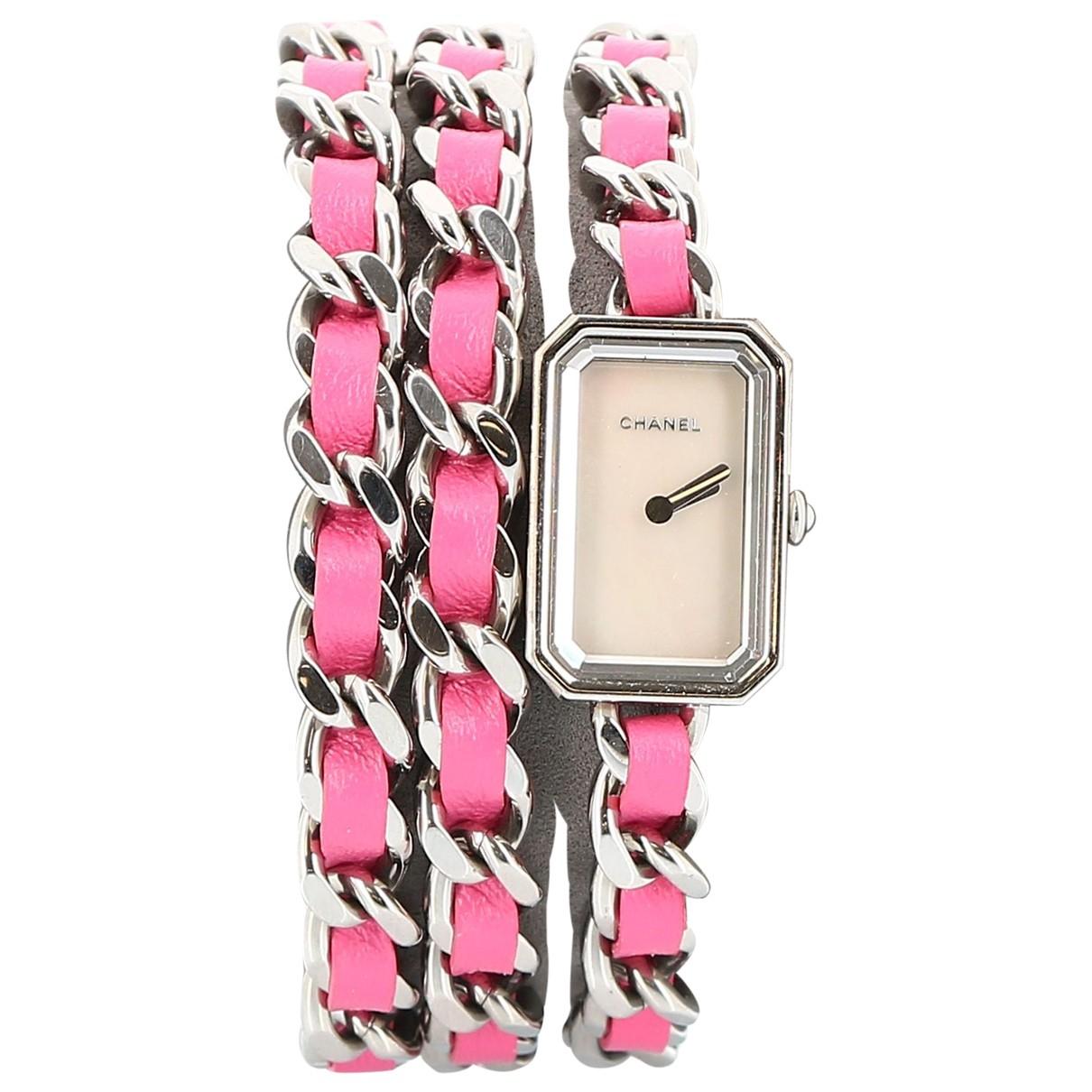 Chanel - Montre Premiere pour femme en acier - rose