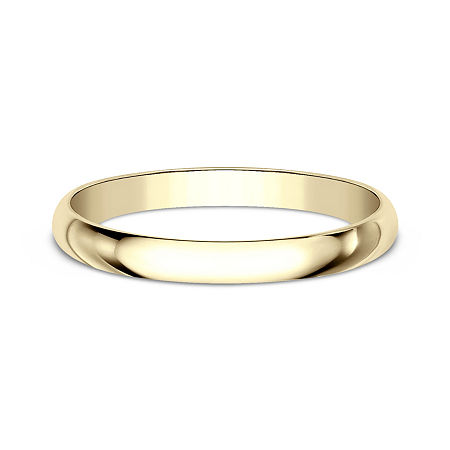 2MM 10K Gold Wedding Band, 6 , No Color Family