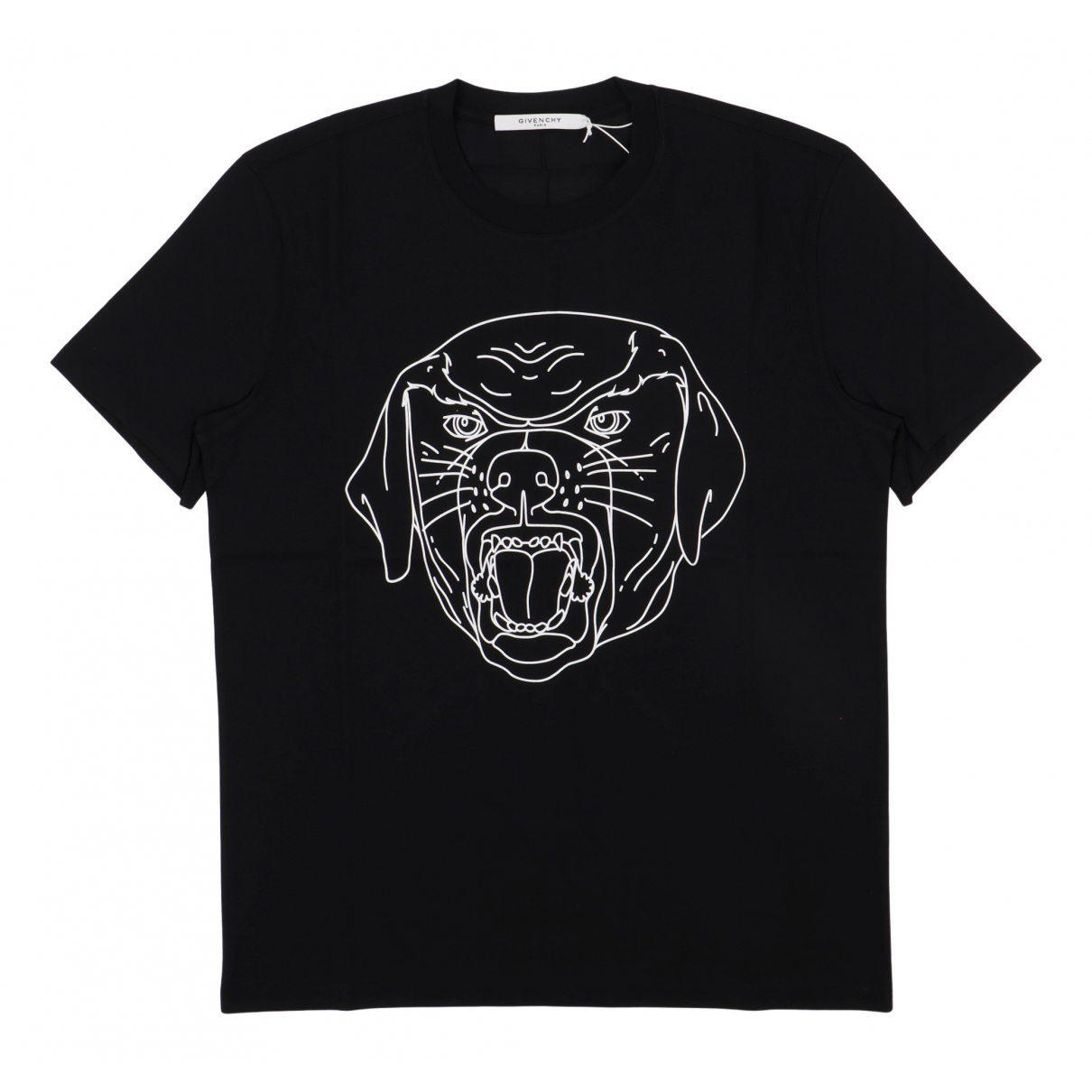 Givenchy - Tee shirts   pour homme en coton - noir