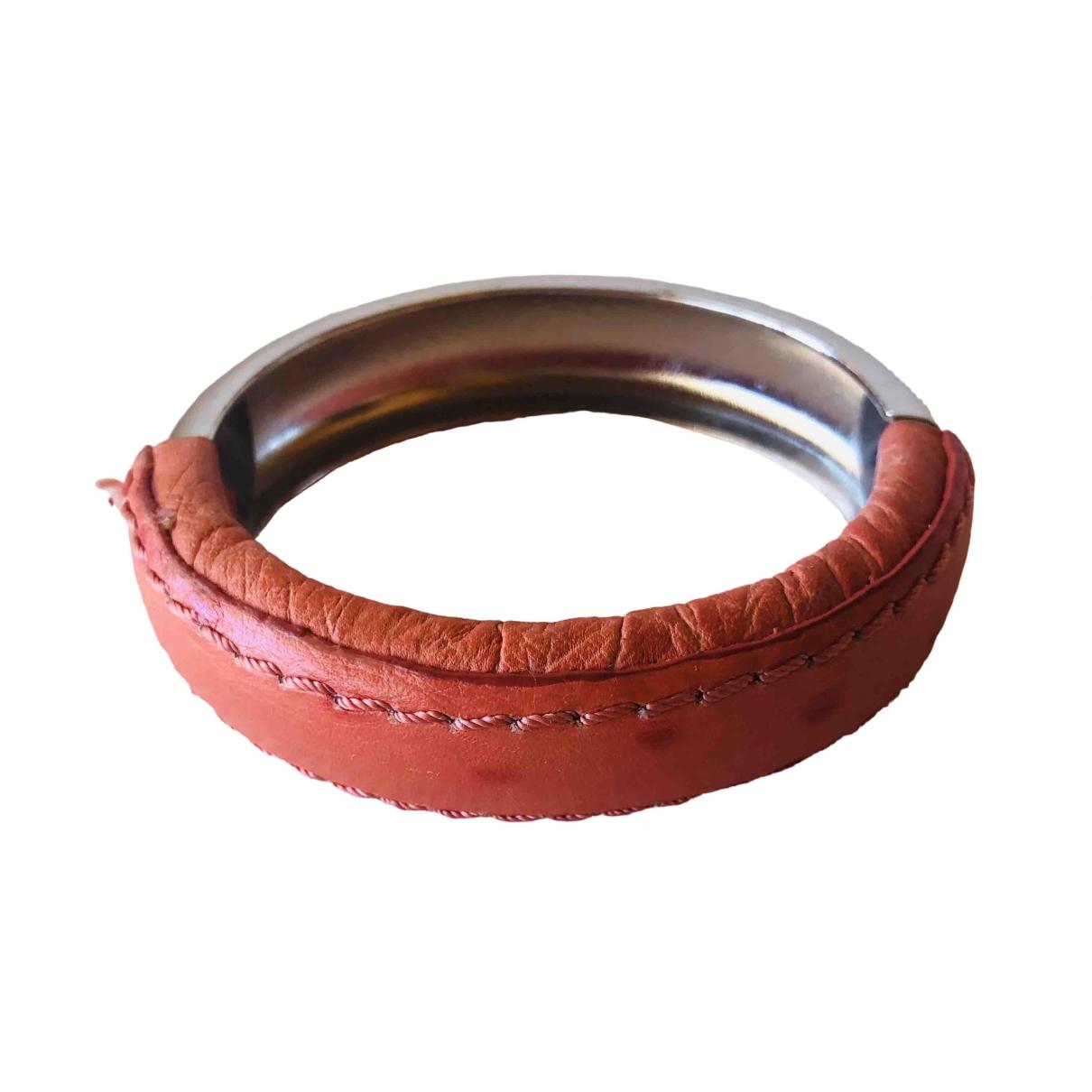 Bimba Y Lola - Bracelet   pour femme en cuir - argente