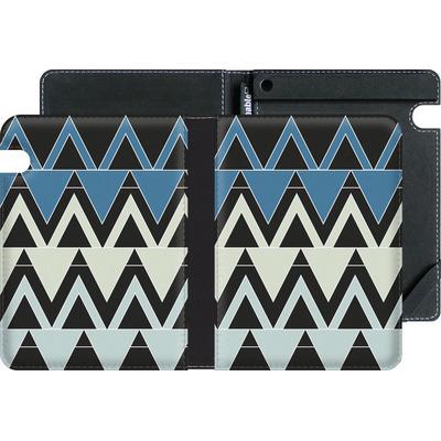 Amazon Kindle Voyage eBook Reader Huelle - Blue Triangles von caseable Designs