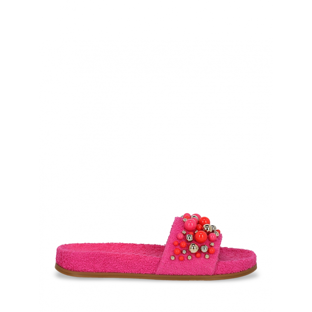 Aquazzura - Sandales   pour femme en toile - rose