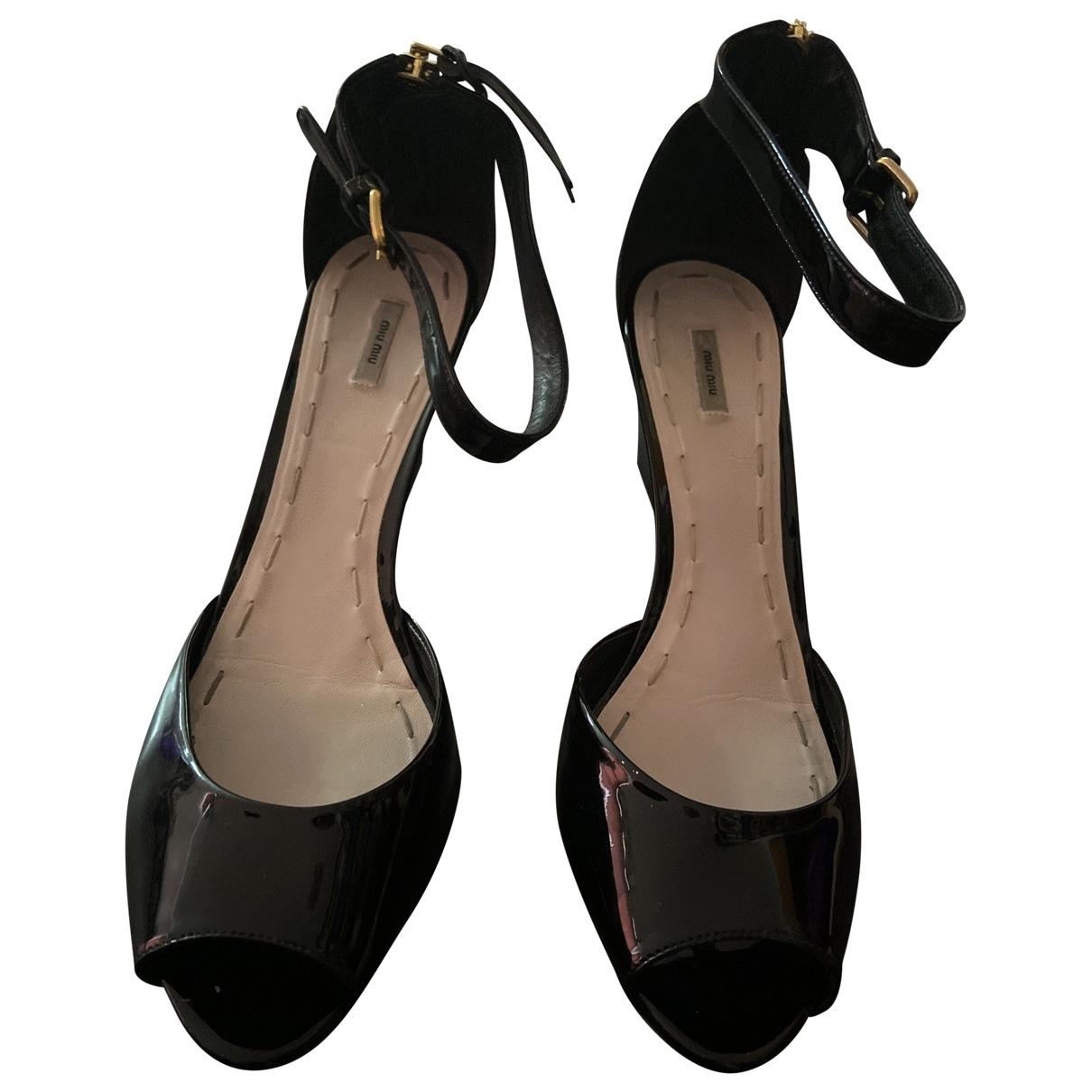Sandalias de Charol Miu Miu