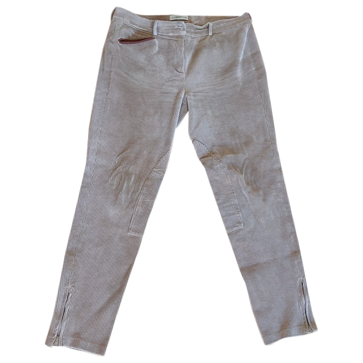 - Pantalon   pour femme en coton - beige