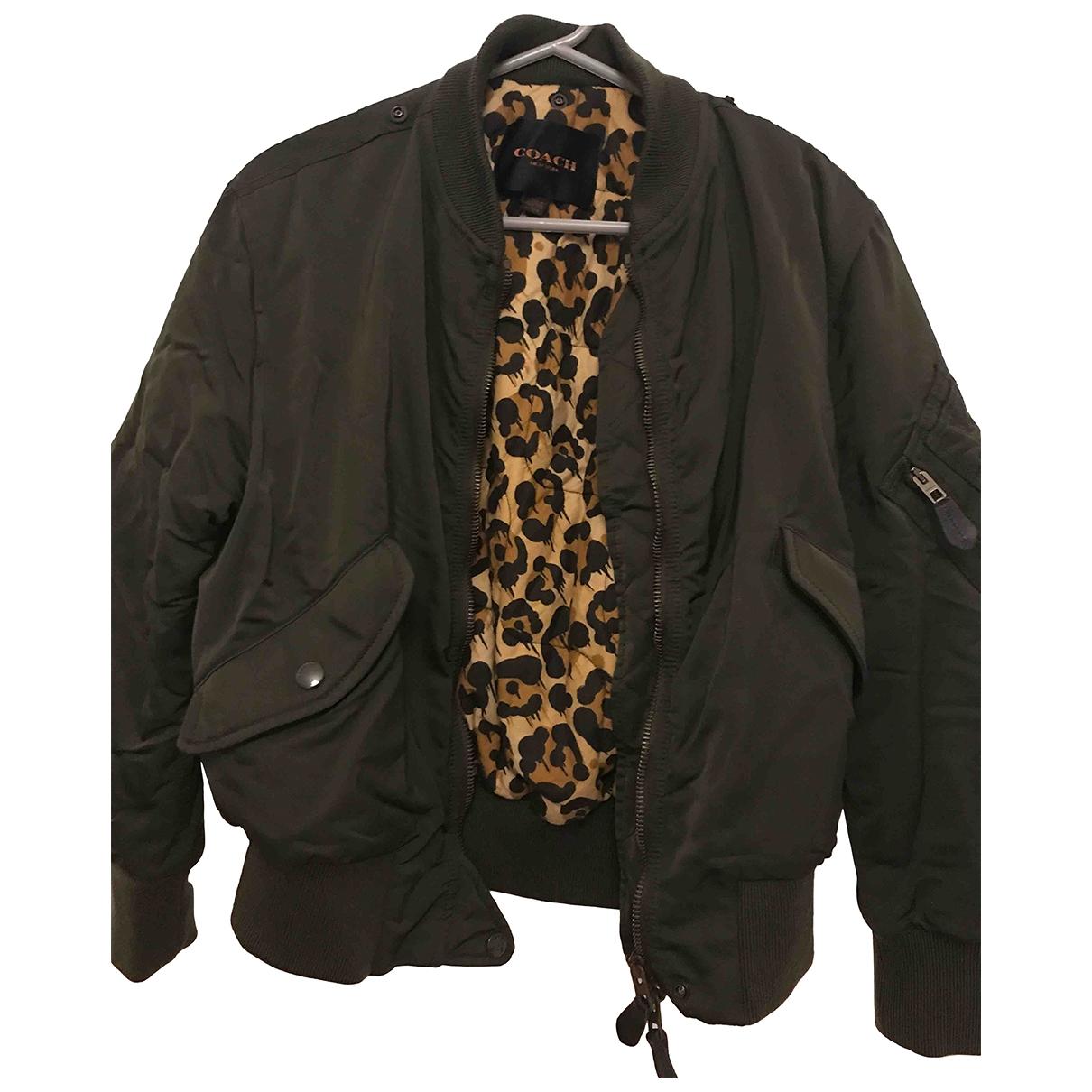 Coach - Manteau   pour femme en coton - kaki