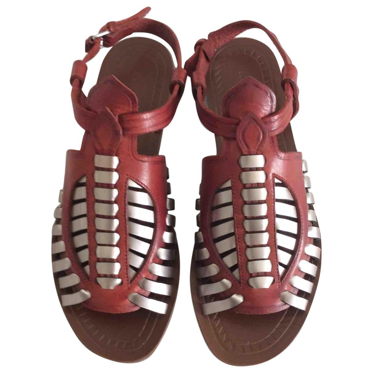 Proenza Schouler - Sandales   pour femme en cuir - bordeaux