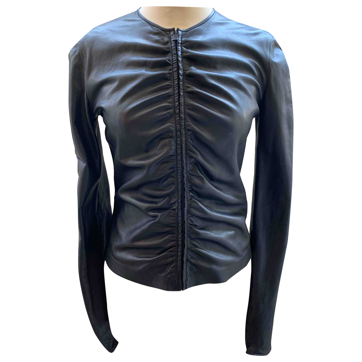 Gucci \N Black Leather jacket for Women 40 IT
