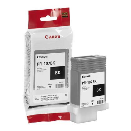 Canon PFI-107BK 6705B001AA Original Black Ink Cartridge