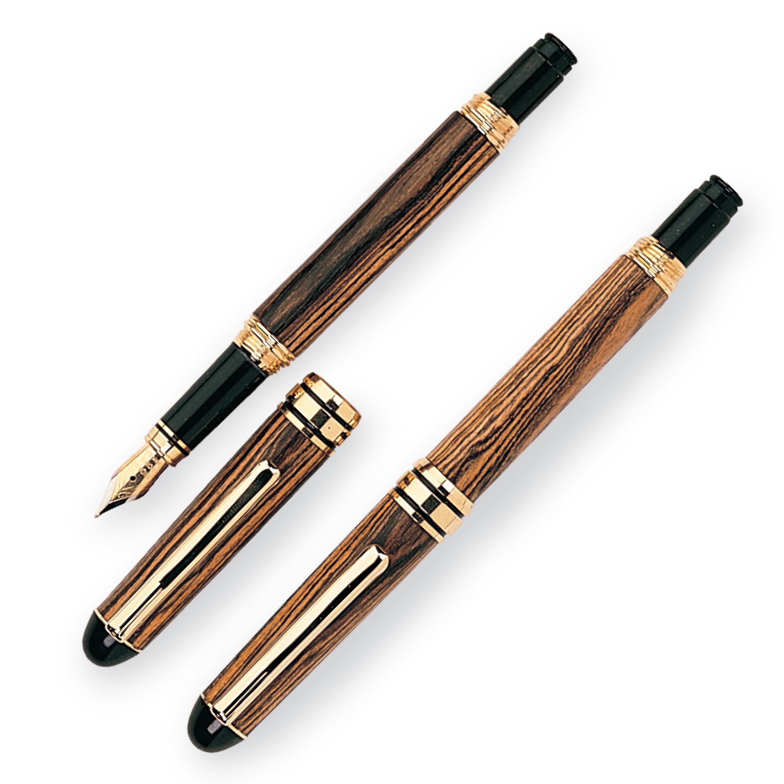 European Style Screw Cap Fountain Pen Kit - Gold