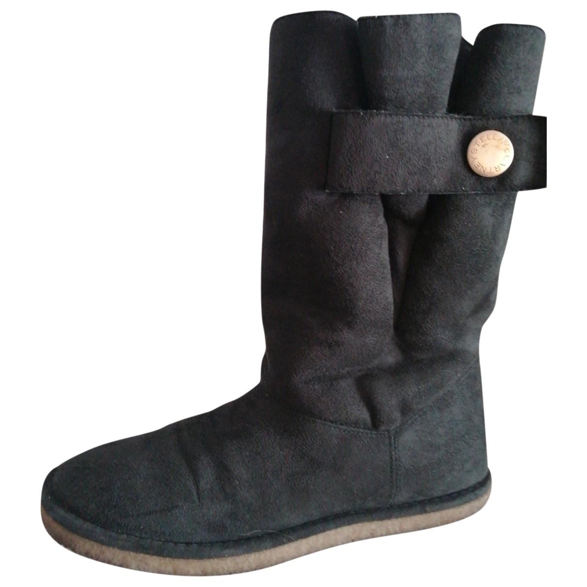 Stella Mccartney - Boots   pour femme en suede - noir