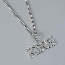 Maenner Halskette mit Buchstaben Dekor