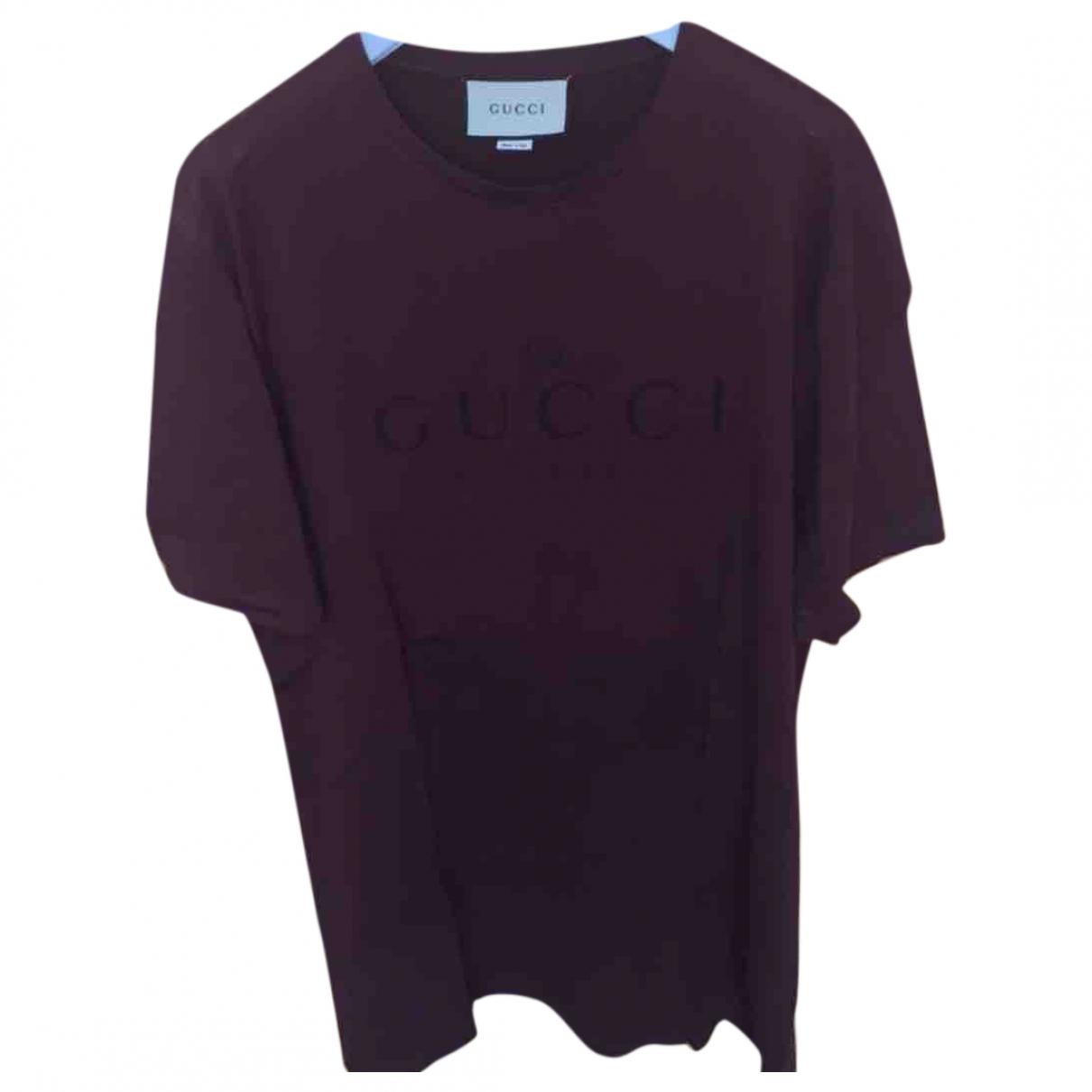 Gucci - Tee shirts   pour homme en coton - bordeaux