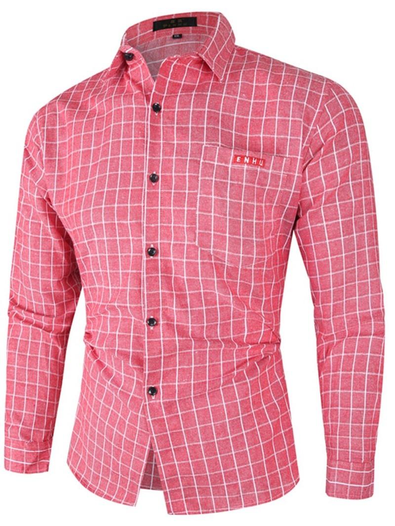 Ericdress Casual Lapel Plaid Fall Single-Breasted Shirt