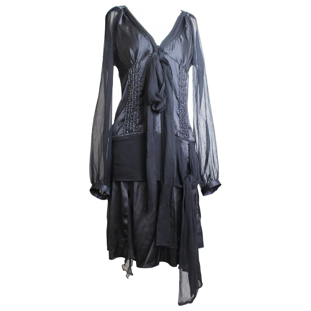 Jean Paul Gaultier - Robe   pour femme en soie - noir