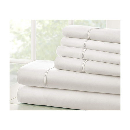 Casual Comfort Premium Ultra Soft Microfiber Wrinkle Free Sheet Set, One Size , White