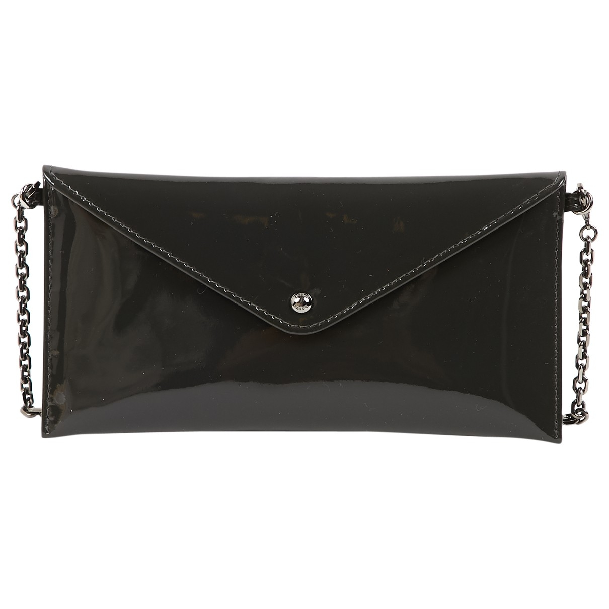 Loewe \N Anthracite Patent leather Clutch bag for Women \N
