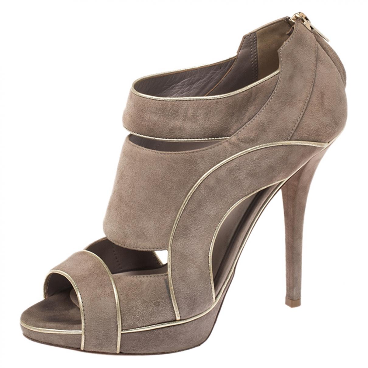 Dior - Boots   pour femme en suede - gris
