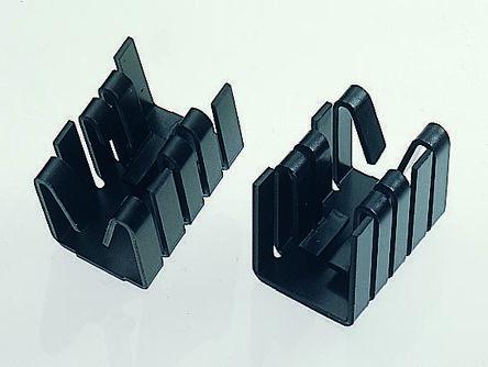 Fischer Elektronik Heatsink, 21K/W, 19.05 x 14.5 x 12.7mm, Clip, Black