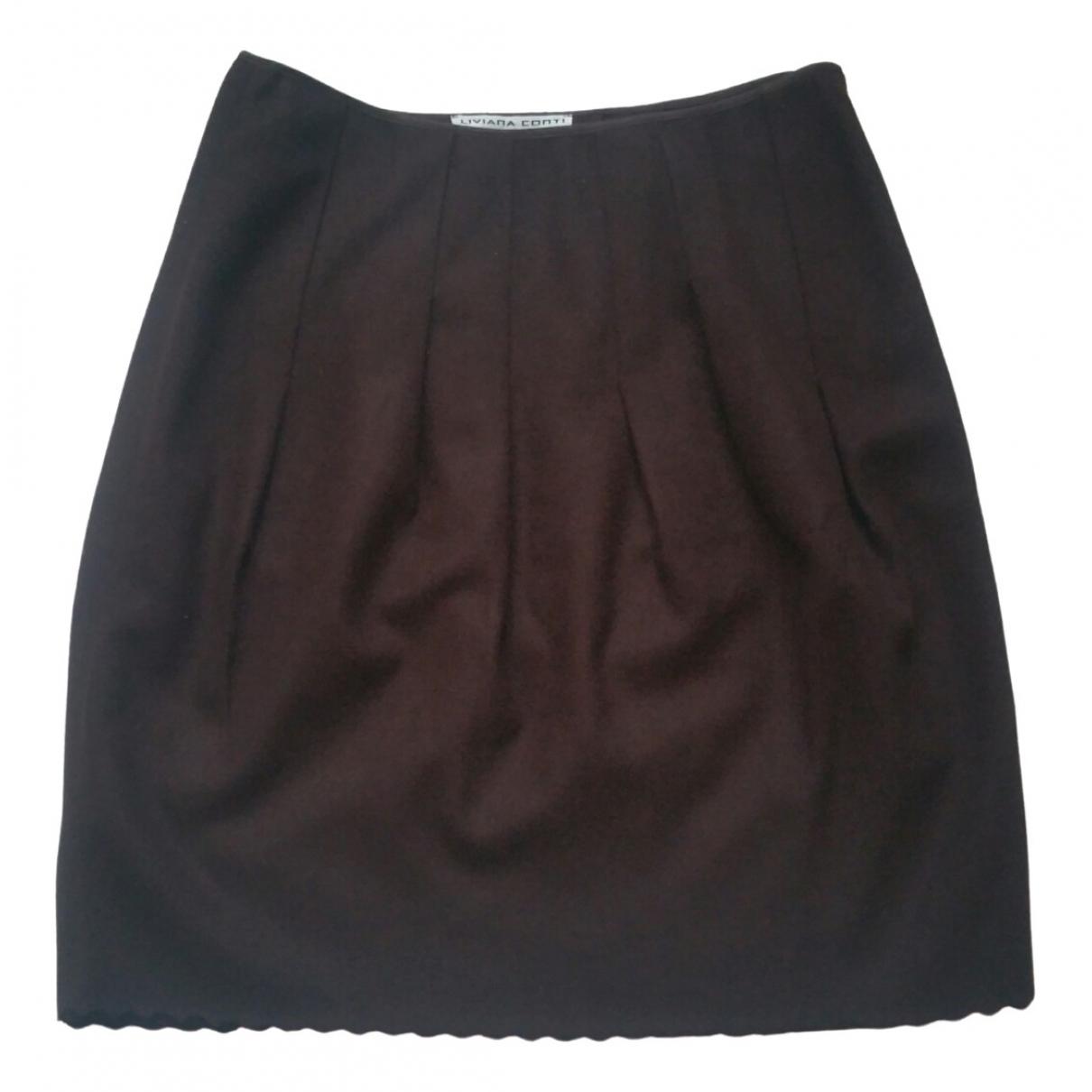 Liviana Conti - Jupe   pour femme en laine - marron