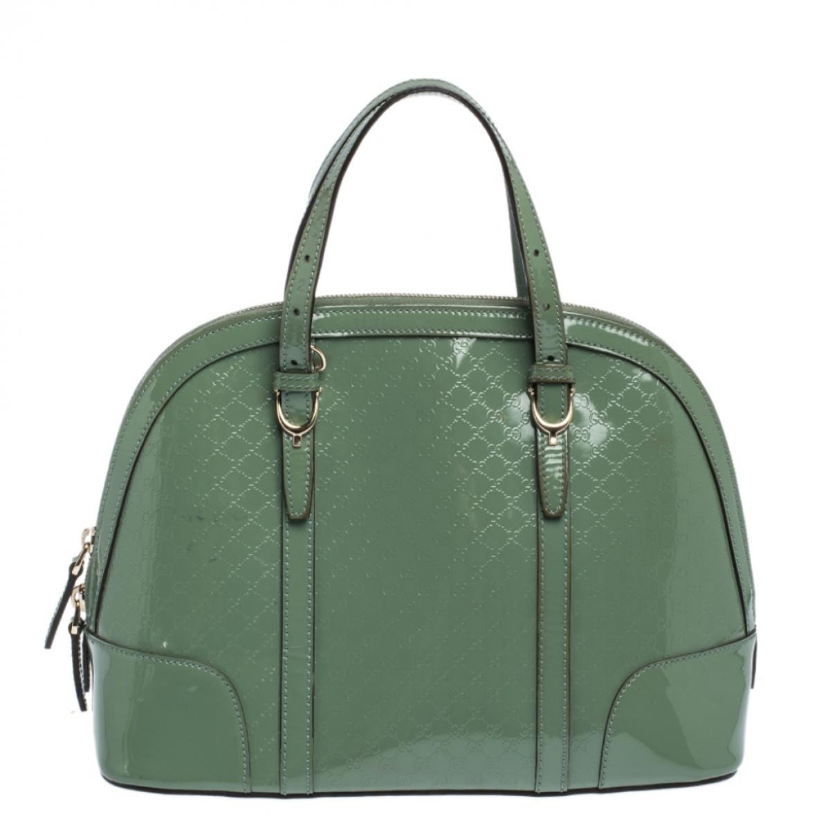 Gucci - Sac a main   pour femme en cuir verni - vert