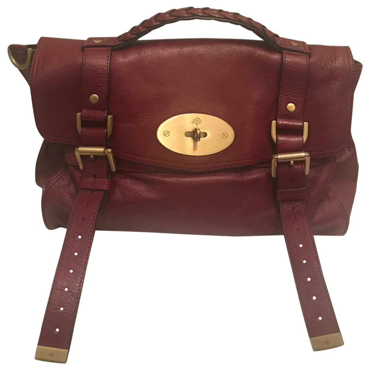 Mulberry Alexa Burgundy Leather handbag for Women \N