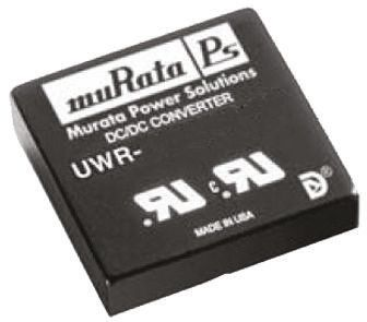 Murata Power Solutions UWR 20W Isolated DC-DC Converter Through Hole, Voltage in 9 → 36 V dc, Voltage out 12V dc
