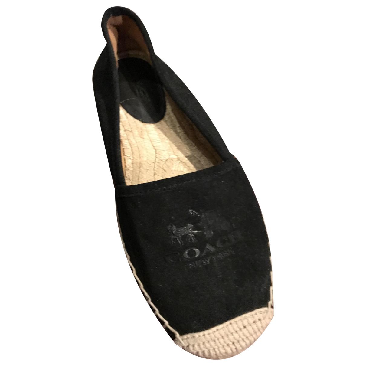 Coach - Espadrilles   pour femme en cuir verni - noir