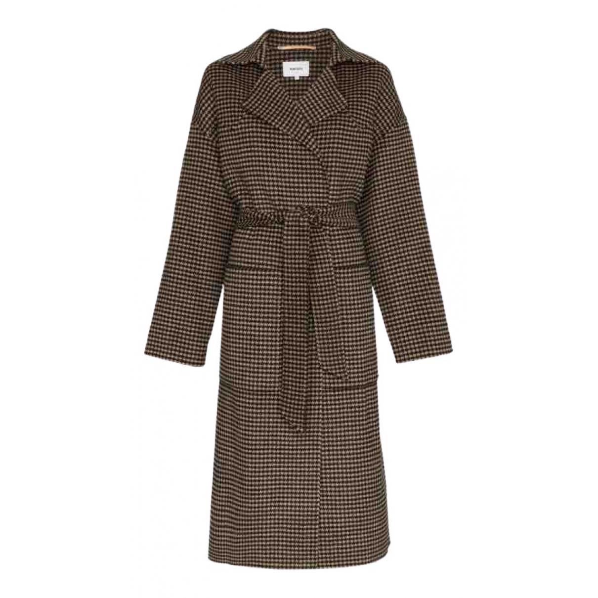 Nanushka - Manteau   pour femme en laine - marron