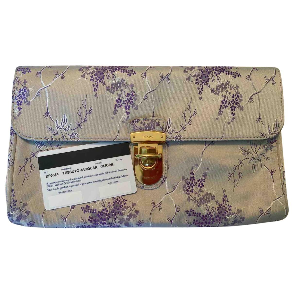 Prada \N Silver Silk Clutch bag for Women \N