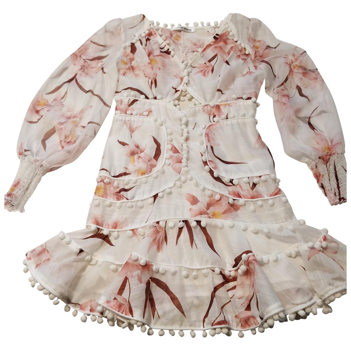 - Robe   pour femme en dentelle - multicolore