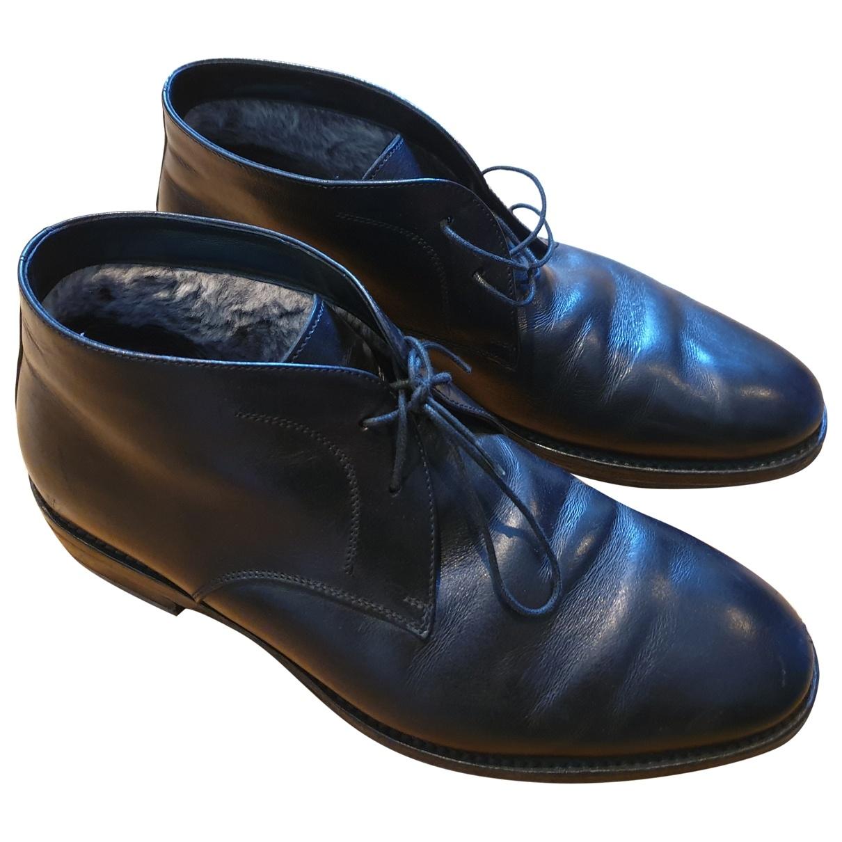 Salvatore Ferragamo \N Black Leather Boots for Men 41 EU