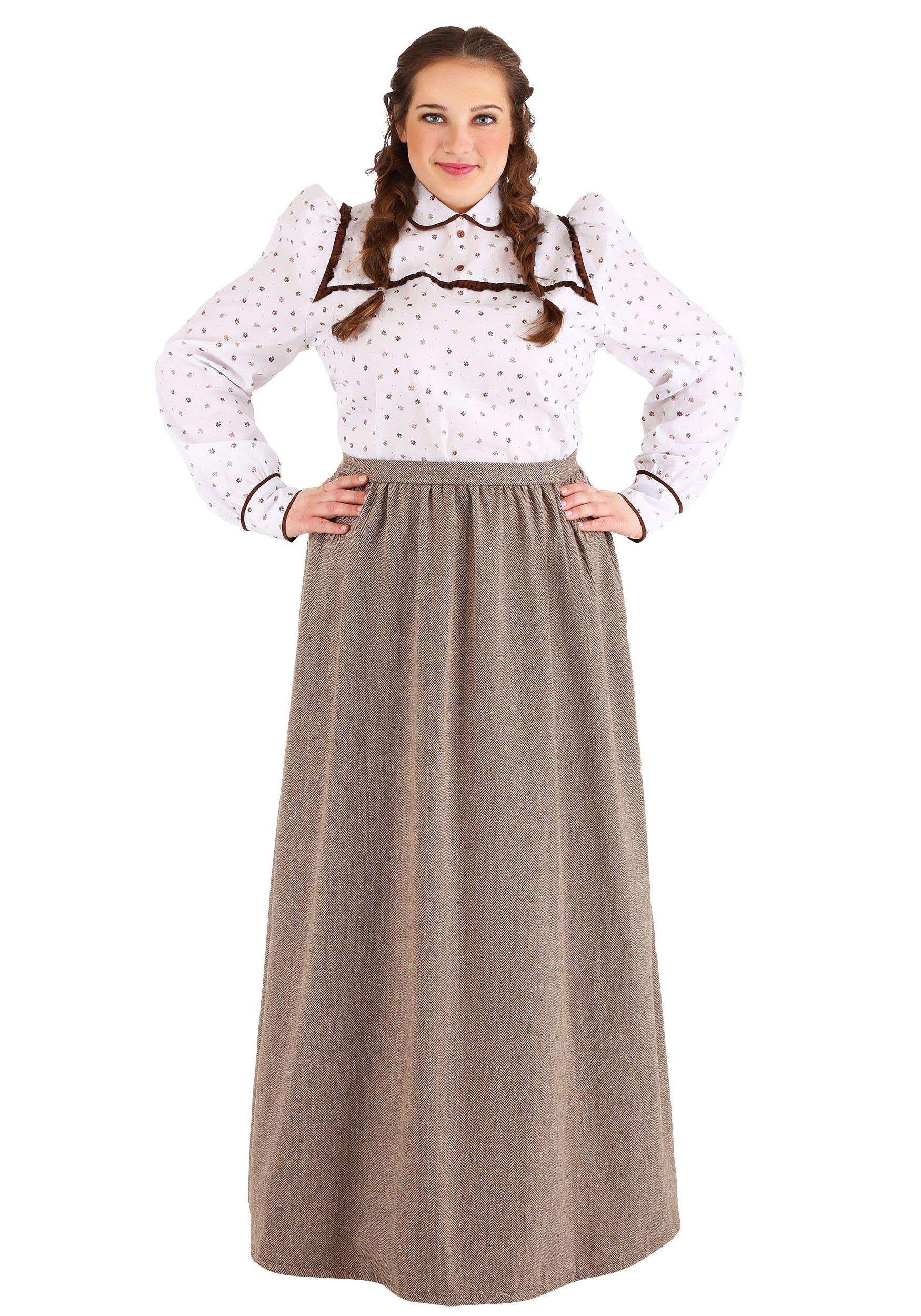 Plus Size  Westward Pioneer Women's Costume