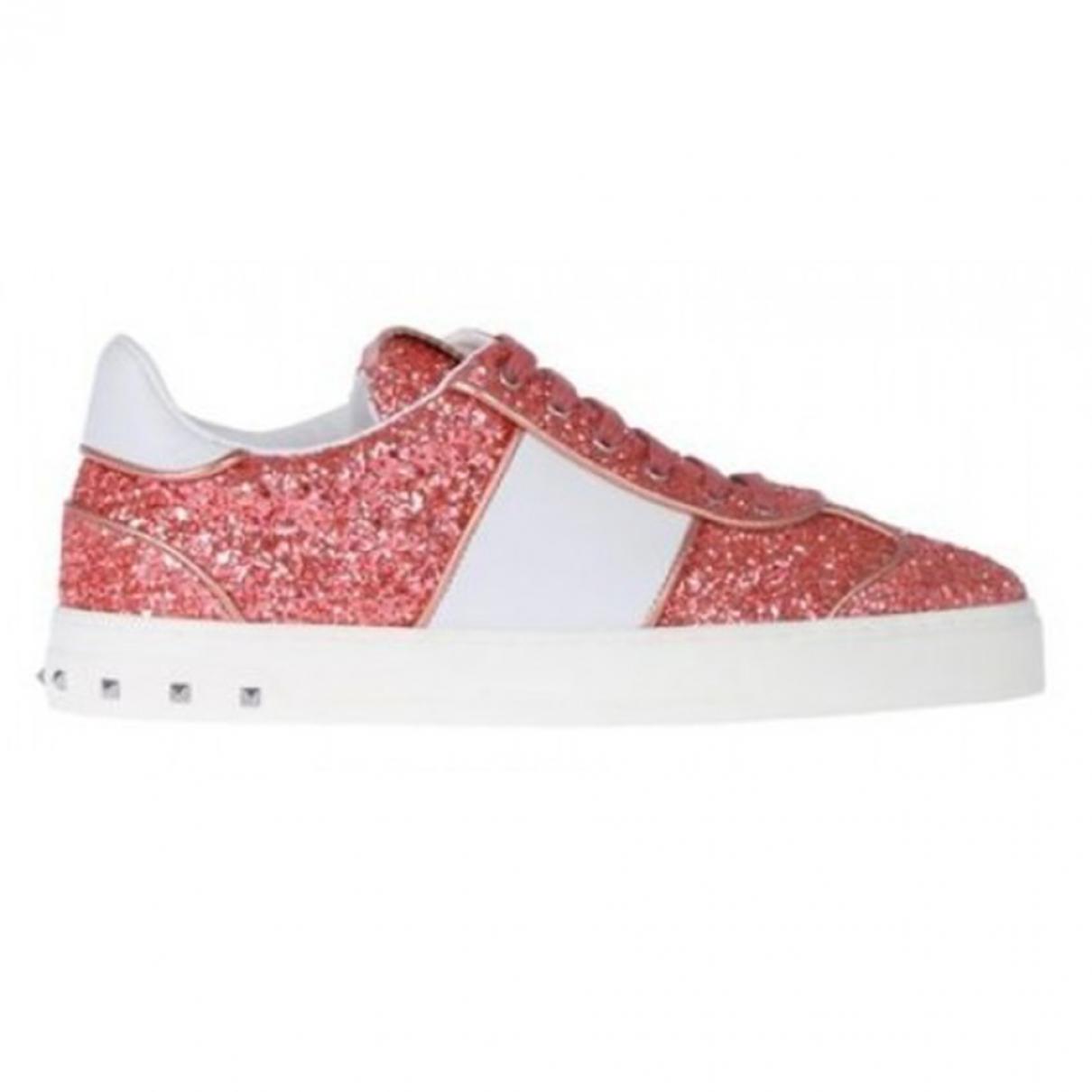 Valentino Garavani \N Pink Glitter Trainers for Women 35.5 EU