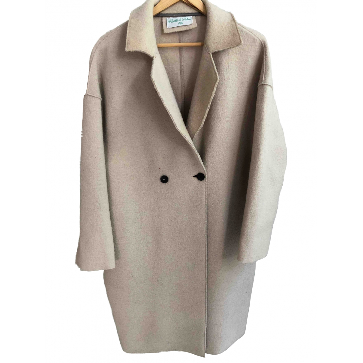 Non Signe / Unsigned \N Maentel in  Beige Wolle