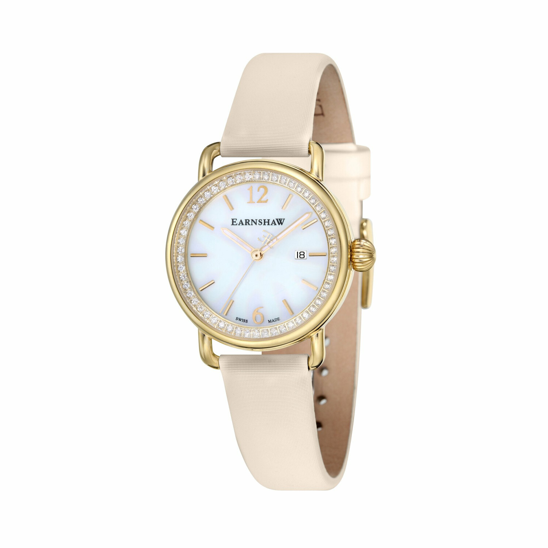 Thomas Earnshaw Men's Investigator ES-0022-SETA-03 White Satin Swiss Quartz Fashion Watch