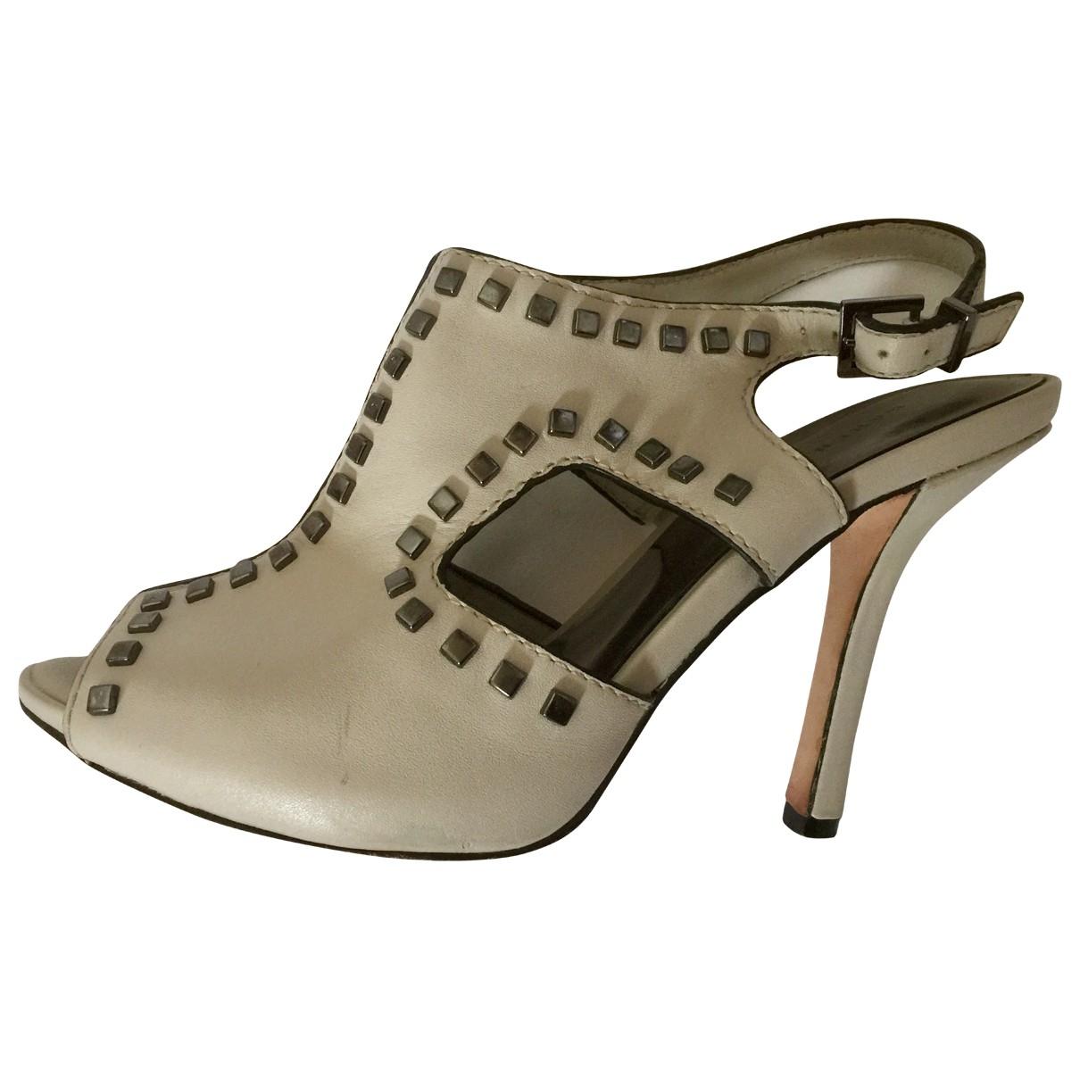 Karen Millen \N Ecru Leather Heels for Women 37 EU