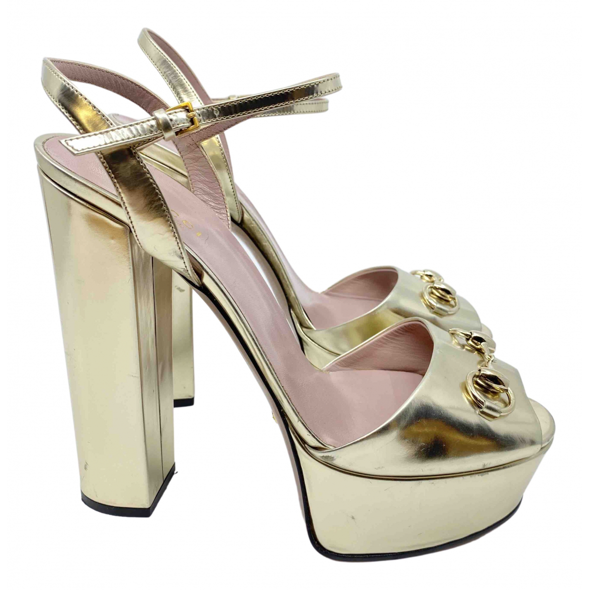 Gucci \N Gold Leather Sandals for Women 40 EU