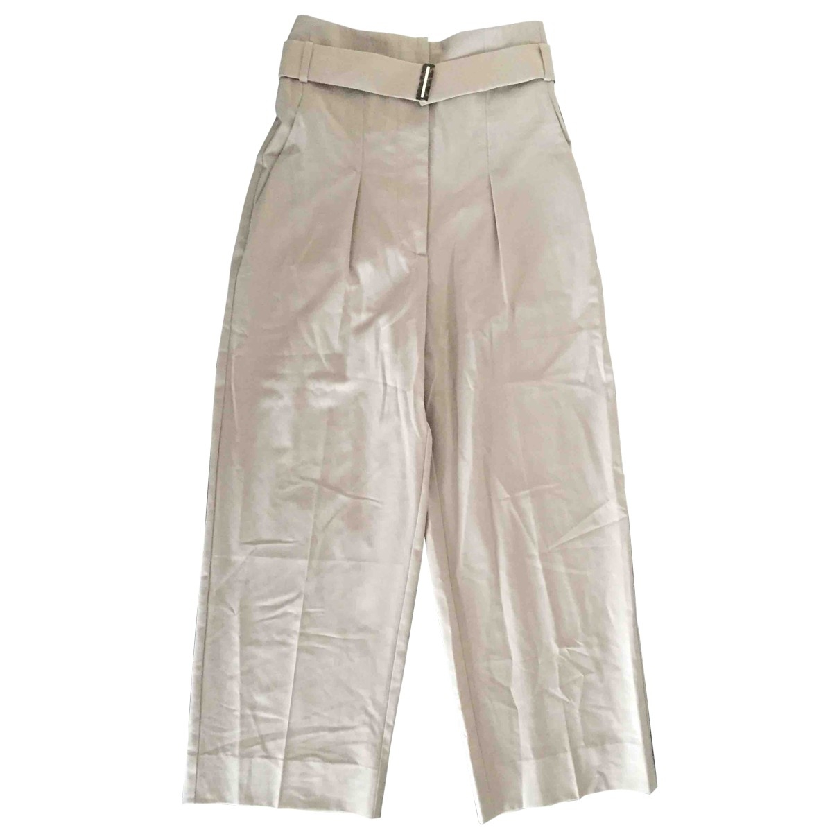 Maison Martin Margiela \N Beige Wool Trousers for Women 42 IT