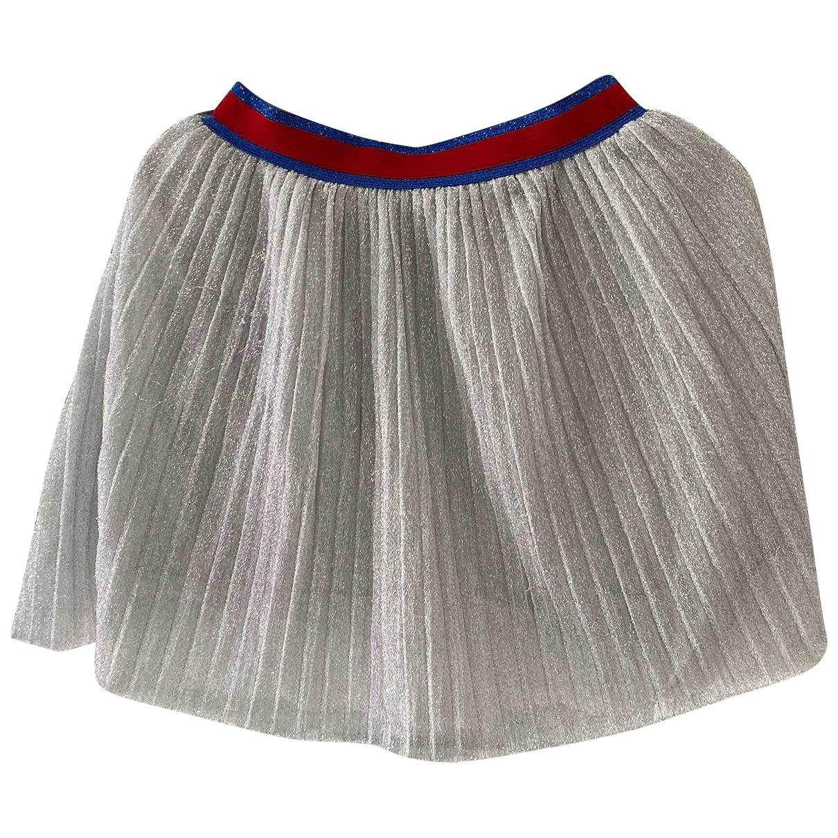 Zara - Jupe   pour enfant en coton - argente