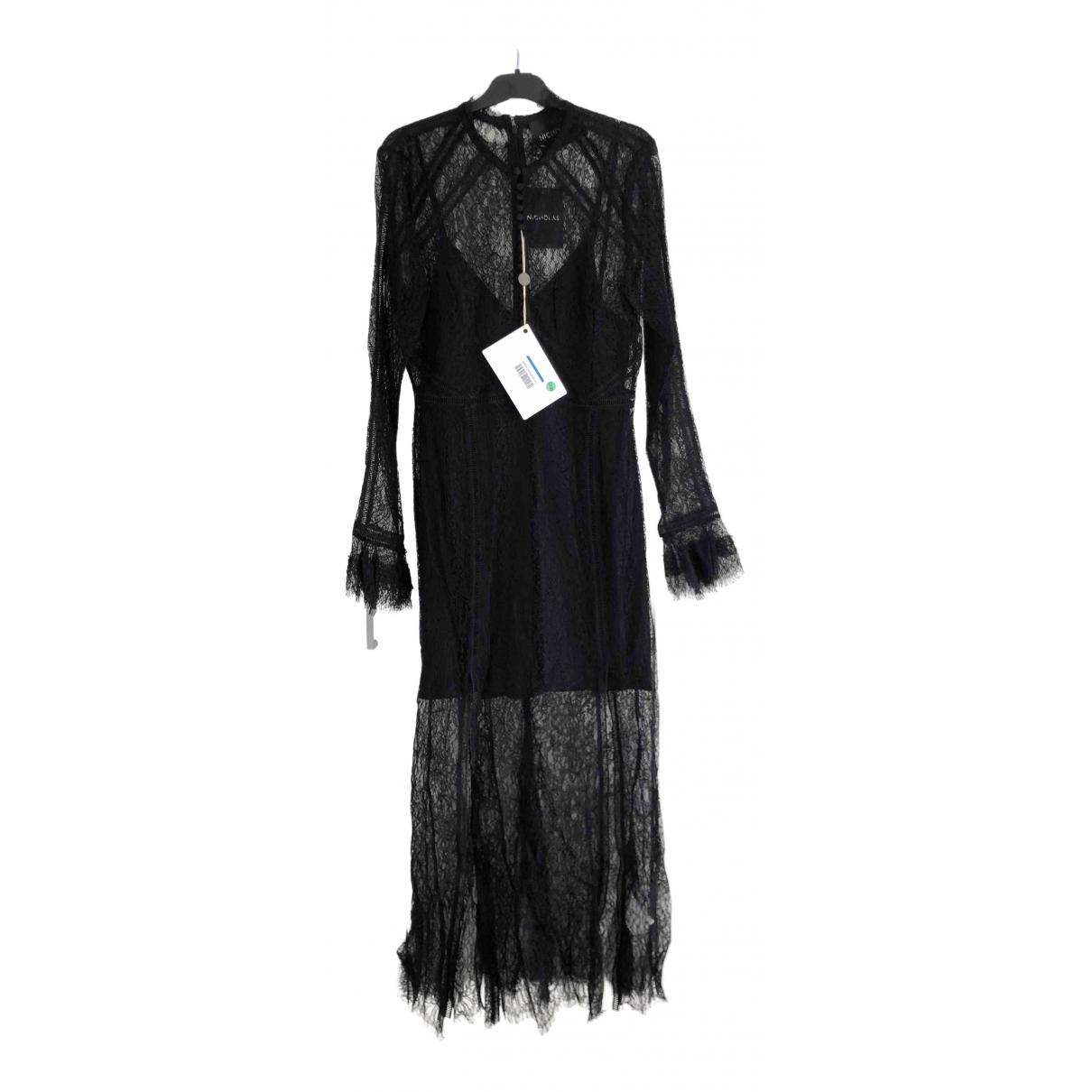 Nicholas \N Kleid in  Schwarz Synthetik