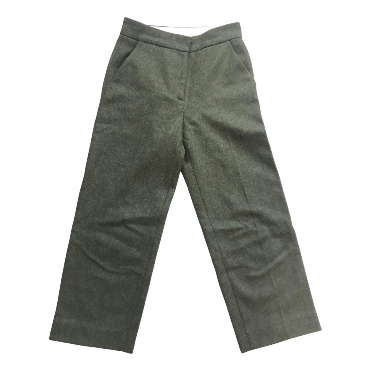 Cos - Pantalon   pour femme en laine - vert