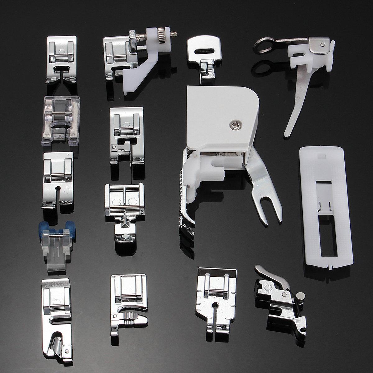15 PCS/Set Low Shank Sewing Machine Presser Feet Set Walking Foot Kit