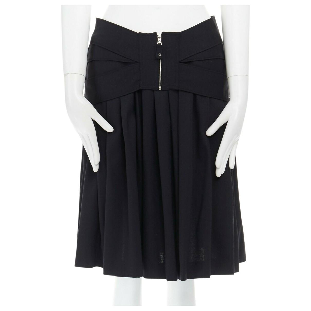 Jean Paul Gaultier - Jupe   pour femme en laine - noir