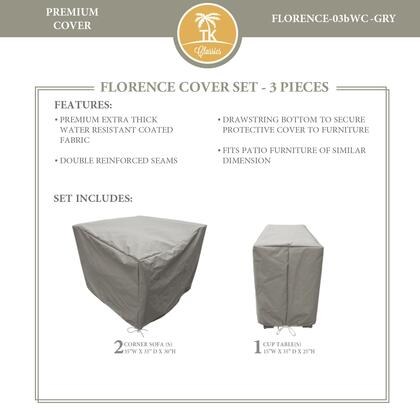 FLORENCE-03bWC-GRY Protective Cover Set  for FLORENCE-03b in