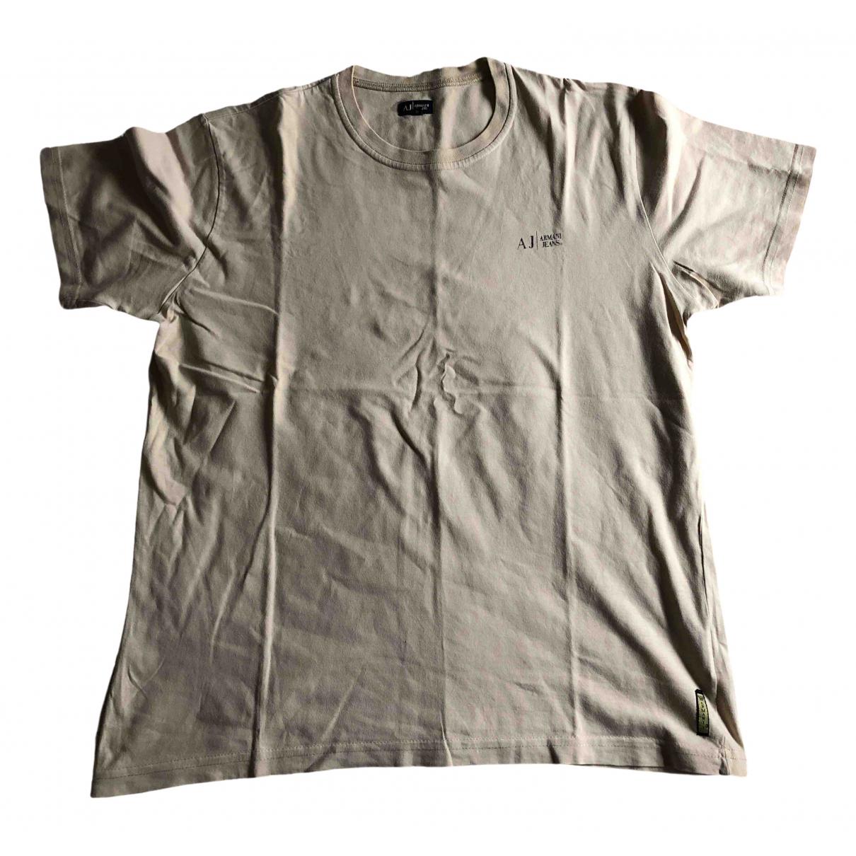 Armani Jeans N Beige Cotton T-shirts for Men XL International