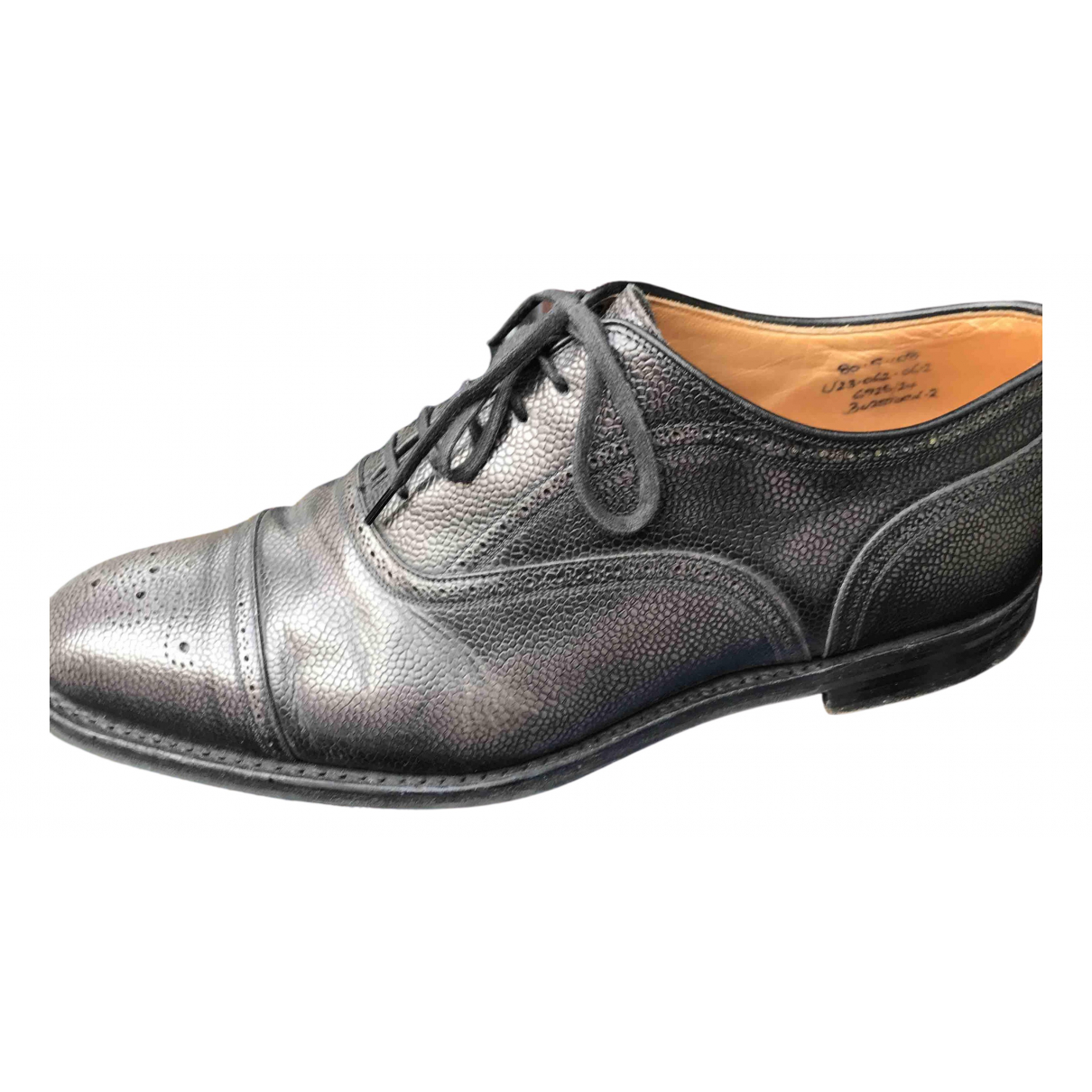 Church's N Grey Leather Lace ups for Men 42 EU
