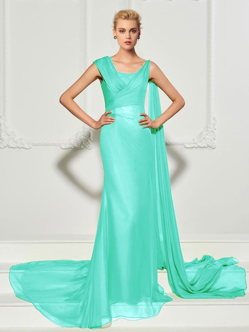 Ericdress Unique Floor Length Long Mermaid Evening Dress With Train