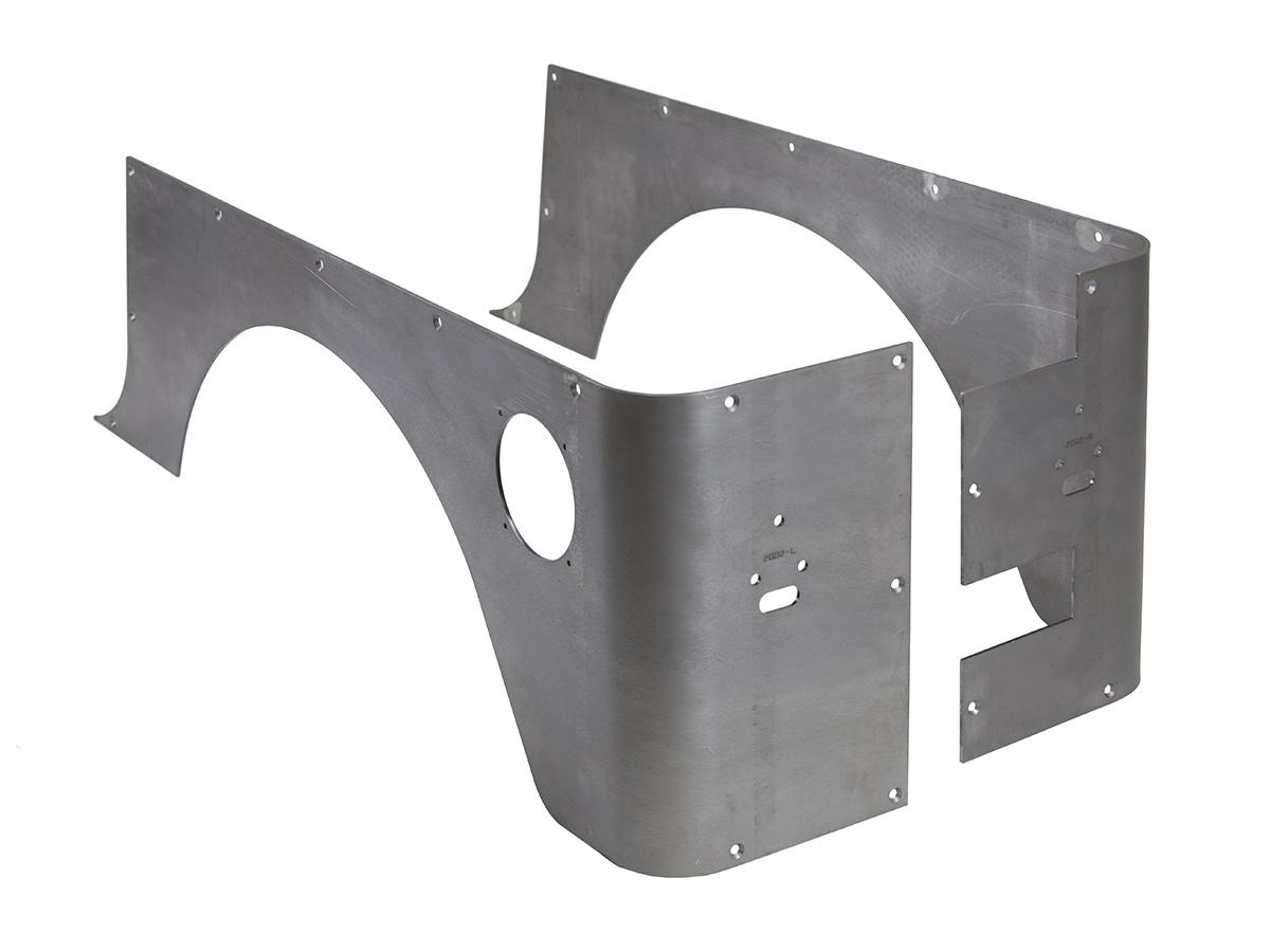 Jeep Corner Guard Set Standard 97-06 Wrangler TJ Rear Steel Bare GenRight