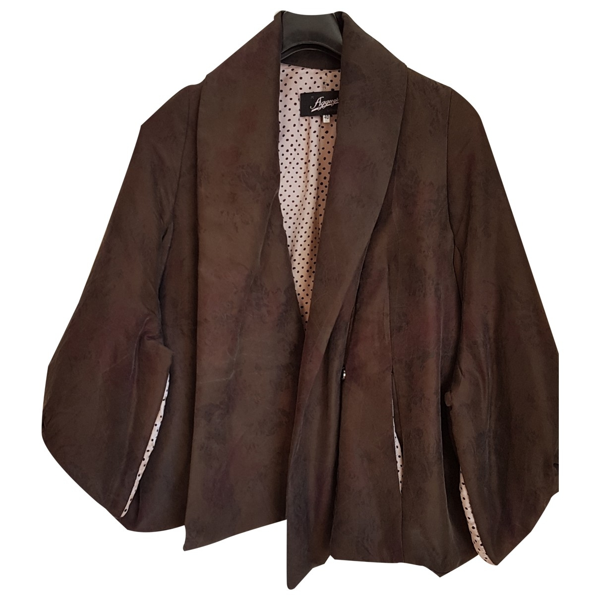 Non Signé / Unsigned \N Khaki Silk jacket for Women 40 IT