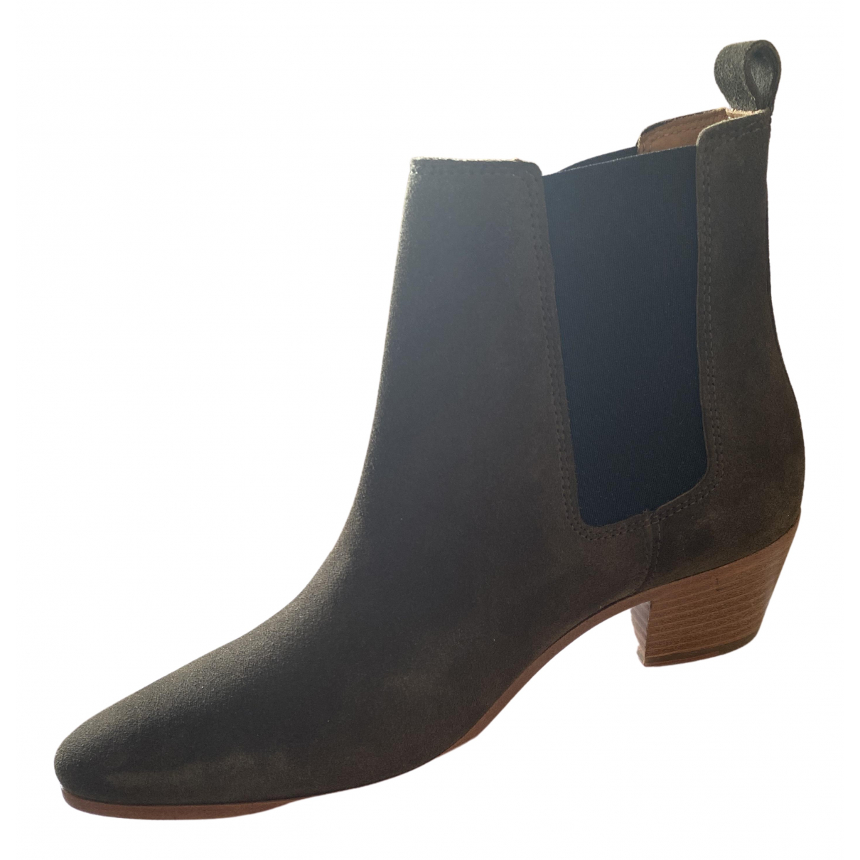 Iro - Boots   pour femme en suede - kaki
